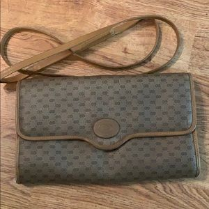 Gucci Clutch Vintage  Monogram Leather Brown